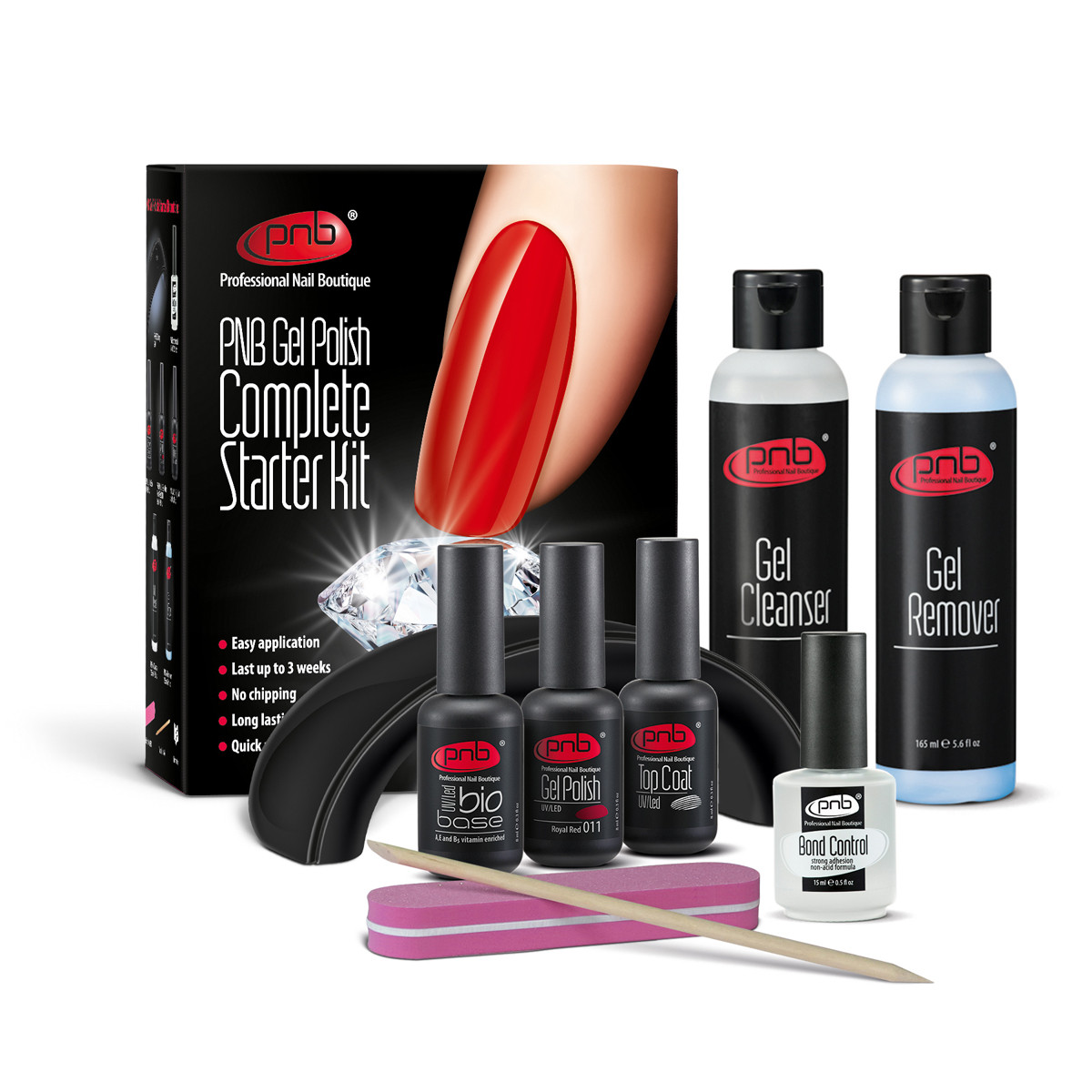 Стартовый набор PNB с LED лампой (PNB Complete Gel Polish starter Kit) - RichcoloR в Харькове