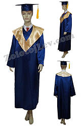 Мантия выпускника синяя