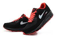 Кроссовки Nike Air Max 90 Black Red (Черные)