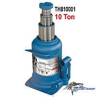 Домкрат бутылочный профессиональный двухштоковый 10т 210-520 мм TH810001