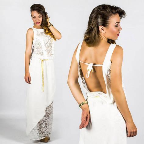 Белое платье 15555 , фото 2