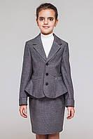 Школьный костюм для девочки.Пиджак и юбка.
