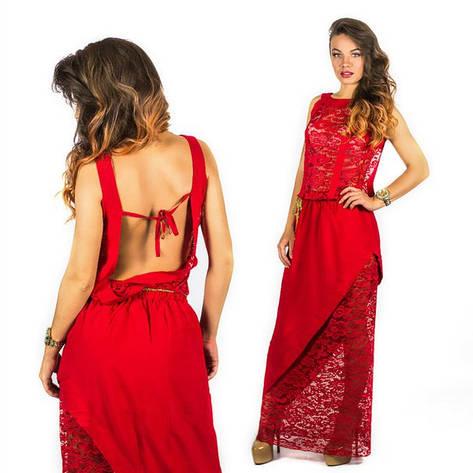 Красное платье 15555, фото 2