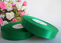 Атласная лента 1,2 см, цвет зеленый