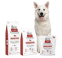 Brit Care Sensitive Venison & Potato - сухой корм для взрослых собак всех пород с олениной