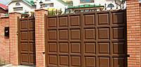 Ворота филенчатые(шоколадка) 2500*3000 откатные, фото 1