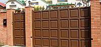 Ворота фільончасті(шоколадка) відкатні 2000*4500, фото 1