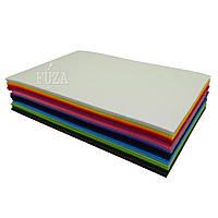 Фетр 100% полиэстер, жесткий, 3 мм, 20х30 см, набор 21 цвет
