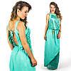 Бирюзовое платье 15555