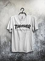 Стильная спортивная мужская футболка Thrasher белая