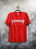 Стильная спортивная мужская футболка Thrasher красная
