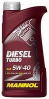Моторное масло дизельное MANNOL DIESEL TURBO 5W-40 API CI-4/SL 1л