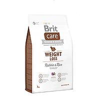 Brit Care Weight Loss Rabbit & Rice - сухой корм (кролик с рисом) для взрослых собак с лишним весом