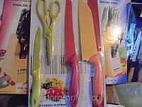 Набор кухонных ножей, набор Kitchen Knife B-20, 4 предмета, набор ножей +ножницы, подарок на новоселье