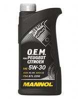 Оригинальное моторное масло MANNOL O.E.M. for Peugeot Citroen 5W-30 1л