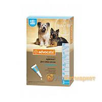 Advocate (Адвокат) капли на холку от блох и клещей для собак от 4 до 10 кг, 1 пип. по 1 мл, Bayer