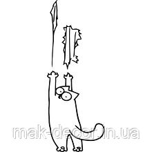 Виниловая наклейка (кот Саймон)
