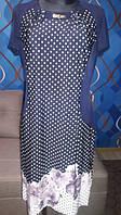 Отличное платье в горошек из вискозы, размер 54, суперцена-суперкачество
