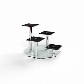 """Подставка для цветов """"Гранд"""" прозрачный+покраска 60х60х60 (Бц-стол ТМ)"""