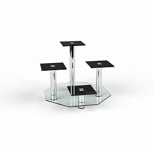 """Подставка для цветов """"Гранд"""" прозрачный+покраска 60х60х60 (Бц-стол ТМ), фото 2"""