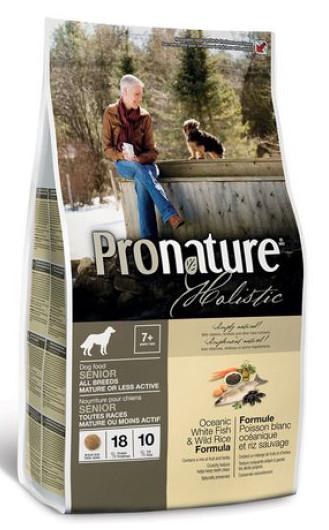 Корм для собак с рыбой и рисом Pronature Holistic Oceanic White Fish & Wild Rice