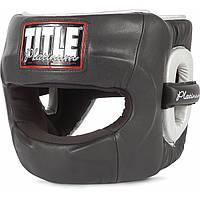 Боксерский бесконтактный закрытый защитный шлем TITLE Platinum Paramount
