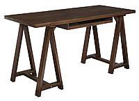 Стол письменный компьютерный из массива дерева 064