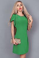 Элегантное молодежное платье из итальянской ткани с золотистым украшением