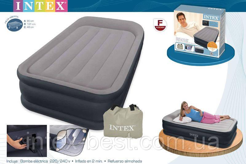 Надувнае кровати Intex 67732 ( 191 х 99 х 43 см.) с втроенным насосом