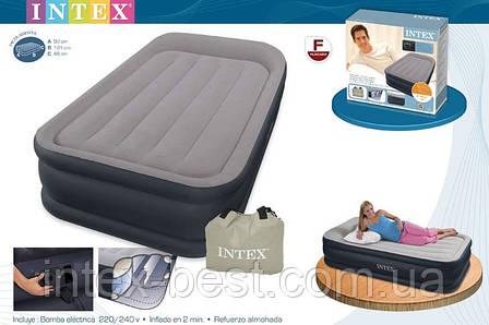 Надувнае кровати Intex 67732 ( 191 х 99 х 43 см.) с втроенным насосом, фото 2