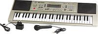 Пианино-синтезатор от сети + микрофон MQ666