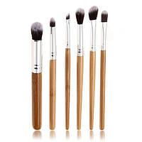 Набор из 6 кистей для макияжа с ручками из бамбука, фото 1