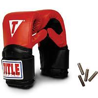 Снарядные боксерские перчатки с утяжелителями TITLE Classic