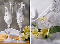 "Свадебные бокалы ""Цветы белые"""