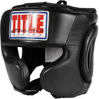 Боксерский защитный шлем TITLE Classic Traditional Training Headgear CPHGT BK