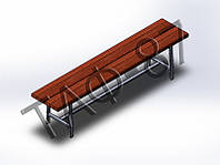 Скамейка №1 без спинки 2м напольная