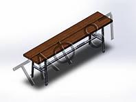 Скамейка №2 без спинки 2м под бетонировку, фото 1