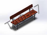 Скамейка №4 со спинкой 2м