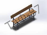 Скамейка №5 со спинкой 2м под бетонировку