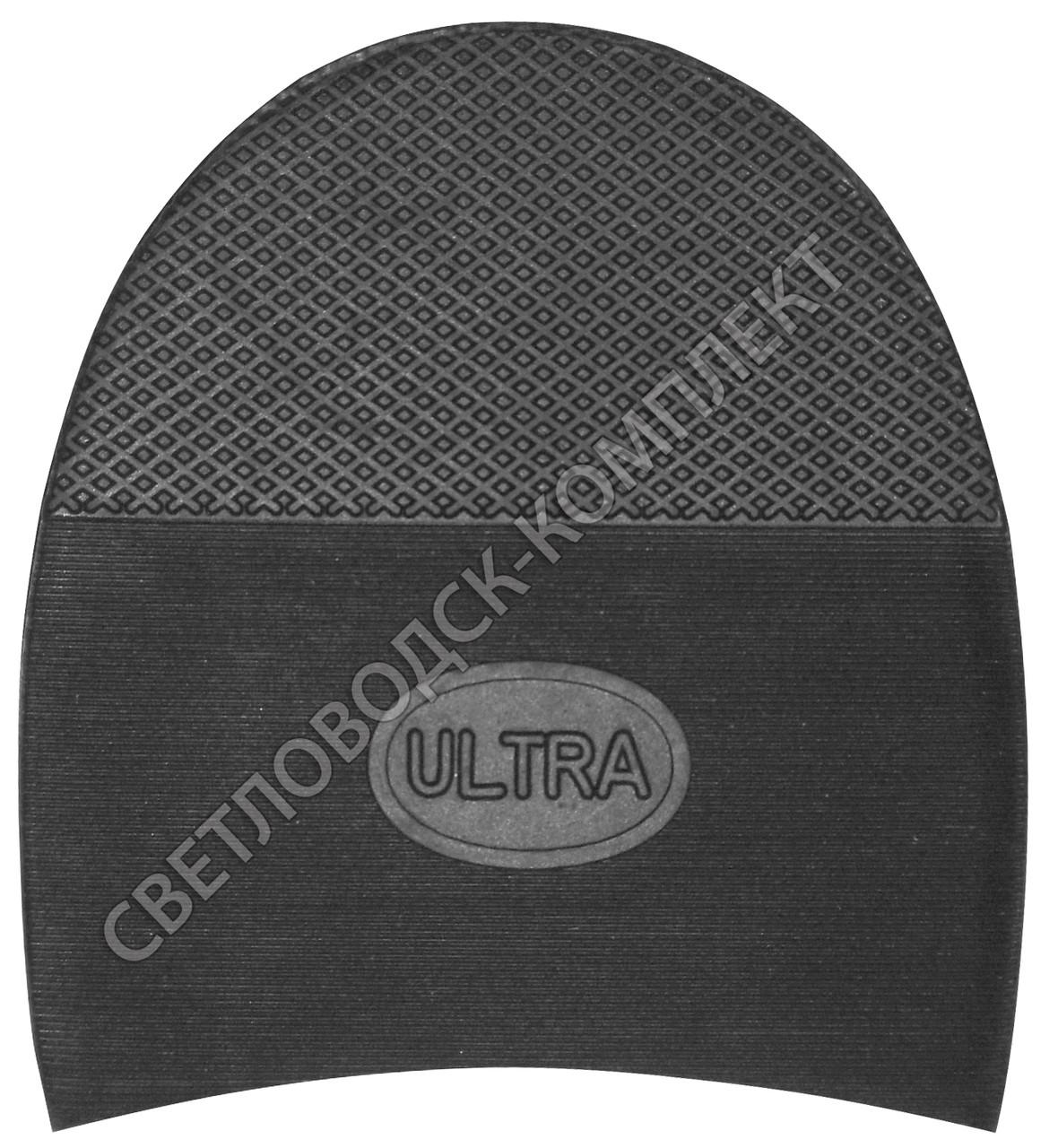Каблук резиновый мужской ULTRA, р. 13-14, т. 21.5 мм, цв. черный