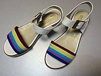 Цветные сандалии из натуральной кожи