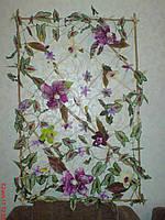 Панно из бамбука и орхидей ручная работа