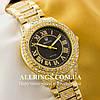 Кварцевые женские наручные часы Rolex Cosmograph Daytona gold black