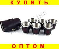 Набор стаканов рюмок в чехле L123B 6 шт герб Украины