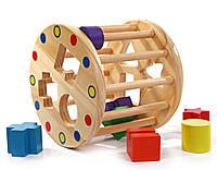 Деревянная игрушка Занимательный цилиндр в картонной коробке  Д028
