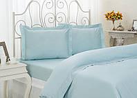 Комплект элитного постельного белья Arletta Blue семейное.