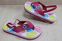 Детские вьетнамки на девочку, пляжная детская обувь тм Super Gear р.24
