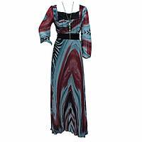 Платье длин.шифон 4867
