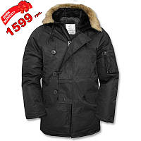 S1030-01 : Куртка-аляска US N3B - чёрная