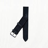 Кожаный черный ремешок для часов